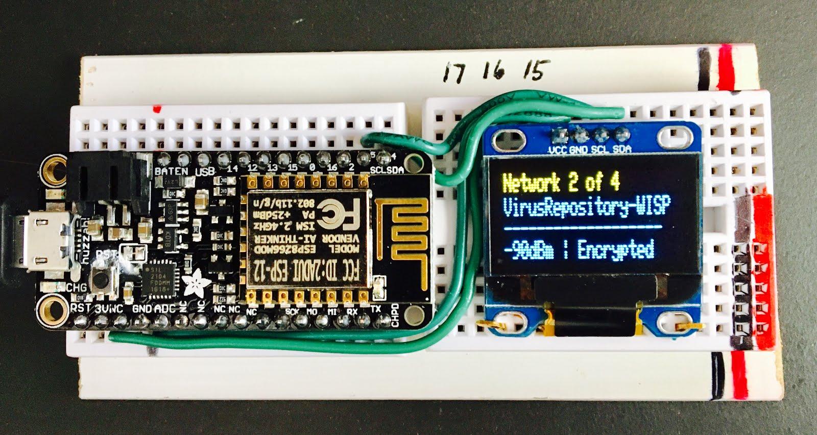 WhiskeyTangoHotel Com: Portable ESP8266 WiFi Sniffer (Arduino IDE)