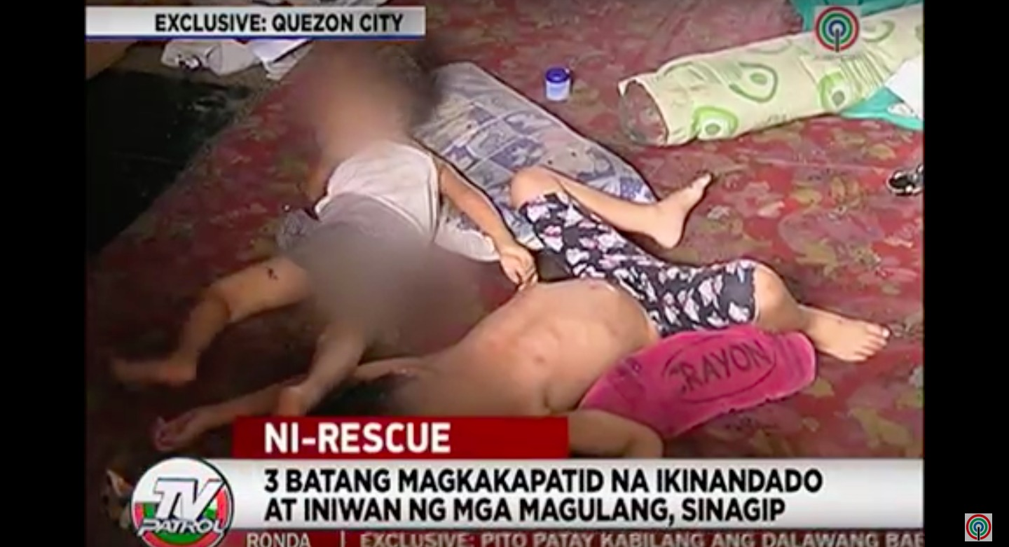 Young children abandoned by parents in QC rescued by social workers