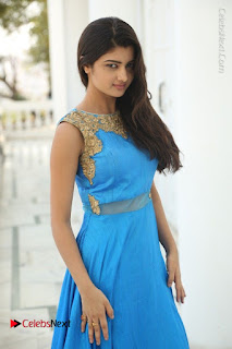 Telugu Actress Akshita (Pallavi Naidu) Latest Stills in Blue Long Dress at Inkenti Nuvve Cheppu Movie Promotions  0049.jpg