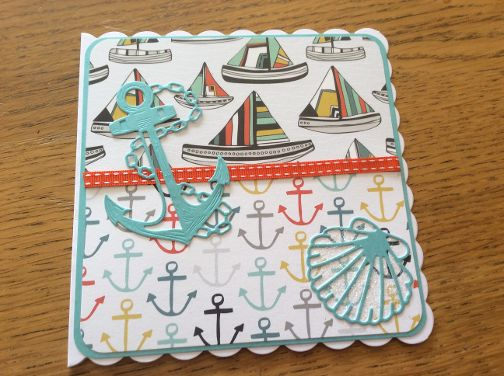 Cotswold Crafter Pats Nautical Card and Happy Birthday Matt xx