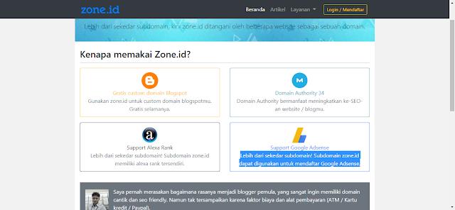 Cara Daftar Domain Gratis .ZONE.ID