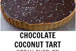 Chocolate Raspberry Coconut Almond Tart Recipe (Gluten-free, Vegan)
