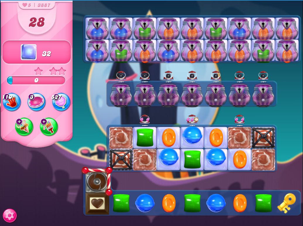 Candy Crush Saga level 3887