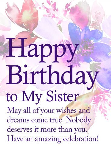 Short And Long Birthday Messages, Wishes Quotes For Sister ...