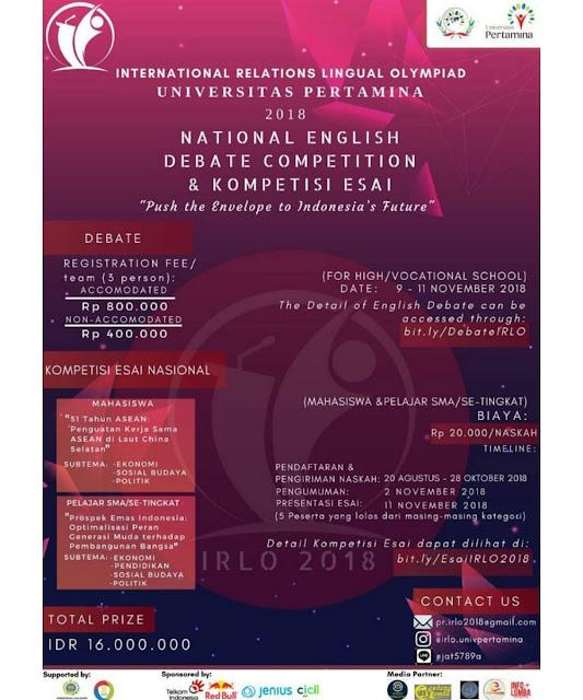 Contest Nasional English Debate Competition 2018 Univ. Pertamina