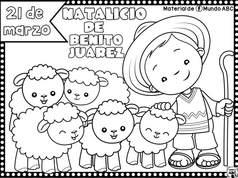 Dibujos Para Colorear De Benito Juárez Colorear Tus Dibujos
