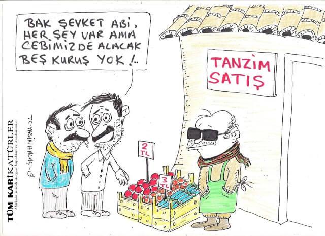 tanzim satış karikatürü