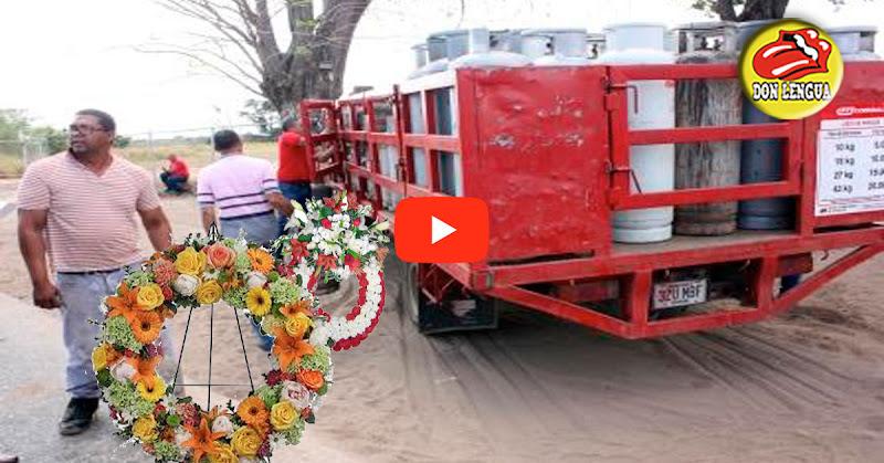 Carro de transporte de gas para transportar fallecidos en Araure - Portuguesa - Solo en Venezuela!