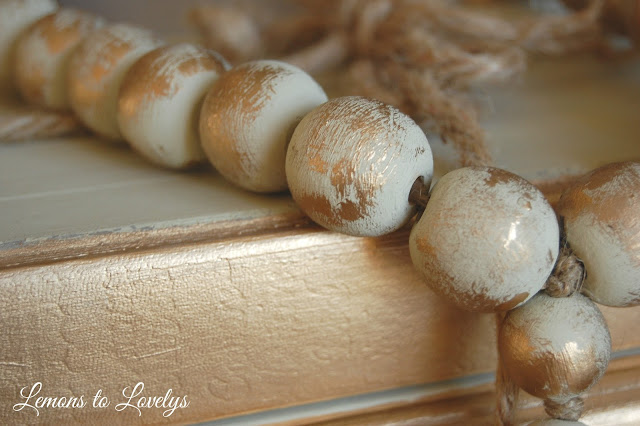 painted decorative beads and books make the perfect gift set!  More on how to DIY at www.lemonstolovelys.blogspot.com