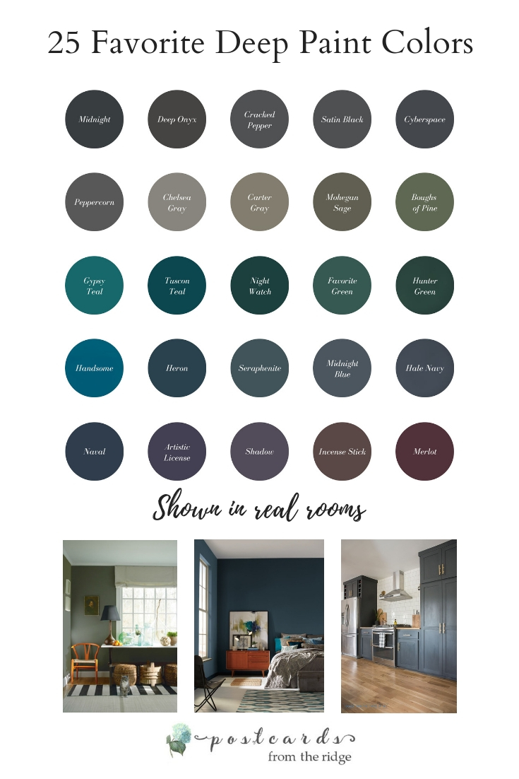 popular deep paint colors