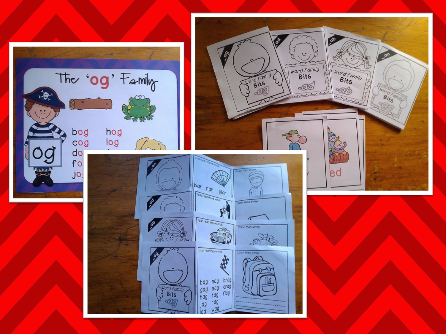 http://www.teacherspayteachers.com/Product/21-Word-Family-Trifold-Mini-Book-Bits-with-Posters-and-Picture-Cards-1145194