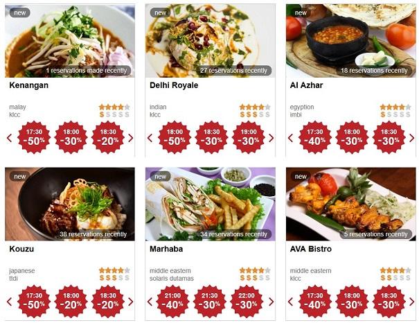 Tempah restoran di Eatigo dan percuma Tiket TGV dengan PromoCode EATIENA
