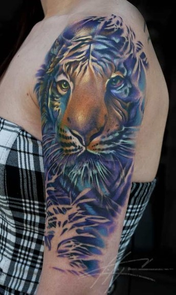 Wild Tattoos New Tiger Tattoo Design