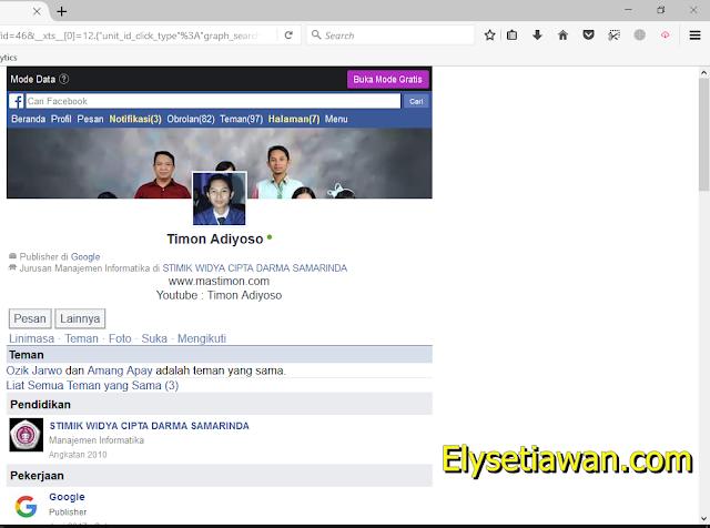 profil facebook mastimon timon adiyoso