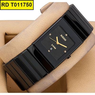 Đồng hồ mặt vuông Rado T011750 dây đá ceramic