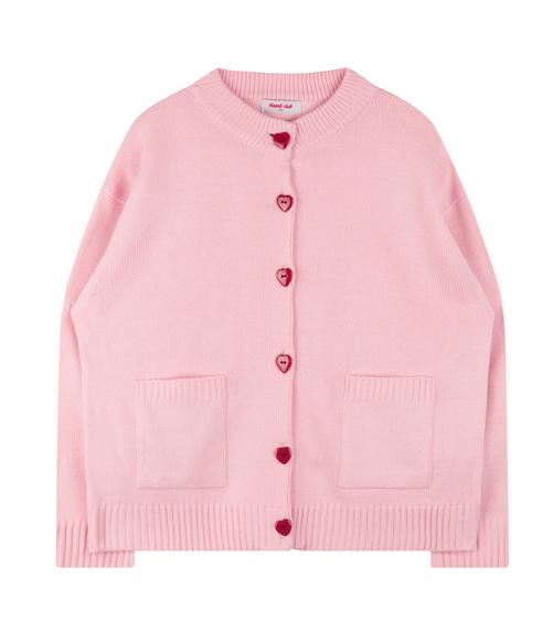 Heart Button Knit Cardigan