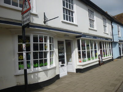A picture of the front of the EACH shop, one of the charity shops on Hadleigh High Street