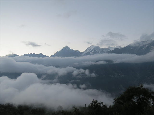 Early morning view from Hotel at Kalpa