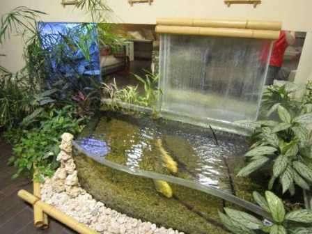 desain taman kolam air mancur minimalis gaya jepang