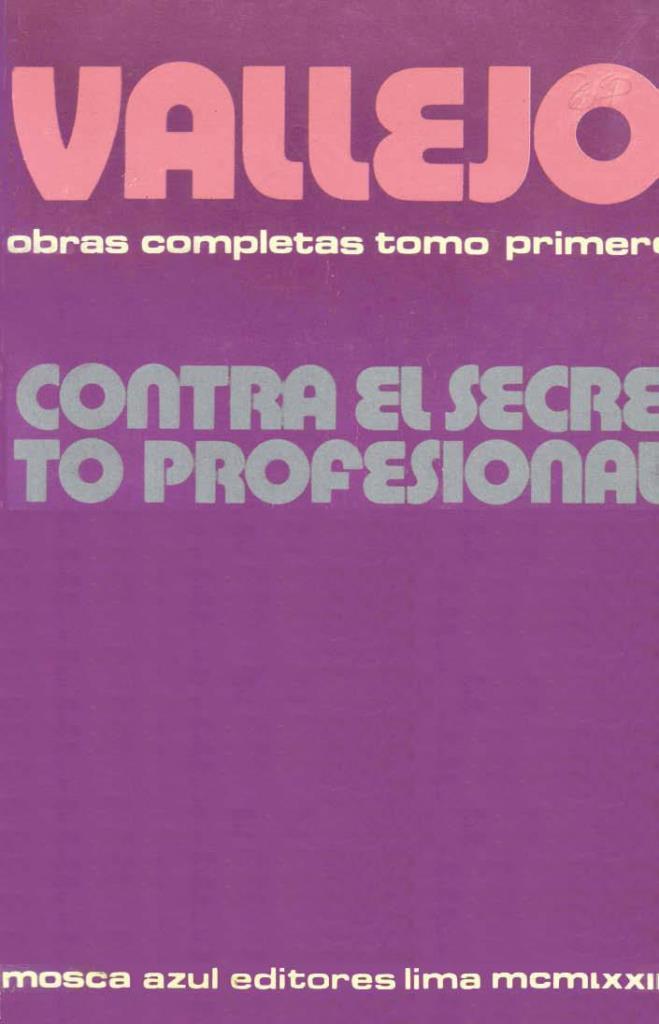 Contra el secreto profesional – César Vallejo