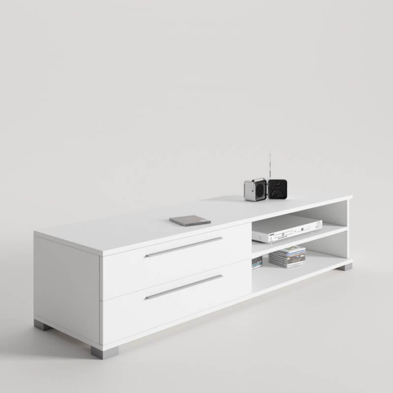 Dise o mueble tv con 2 cajones ideal para televisores con for Mueble compacto tv