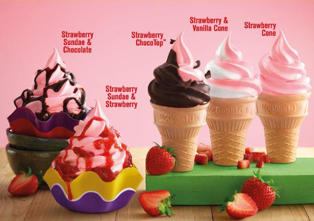 Strawberry Cone McDonald's Malaysia