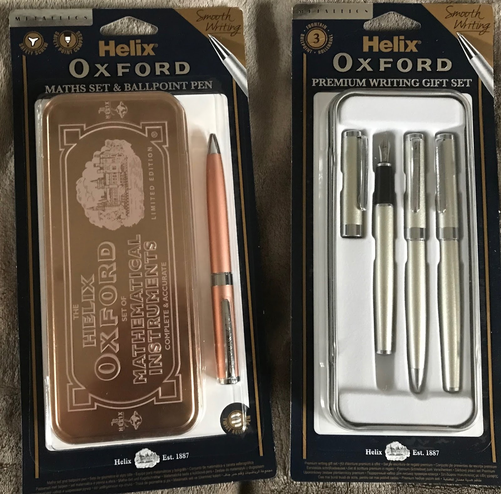 Oxford Math Set By Helix Brand New in Quality Tin Box