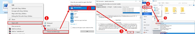 Konversi file .webarchive dengan Ms. Word