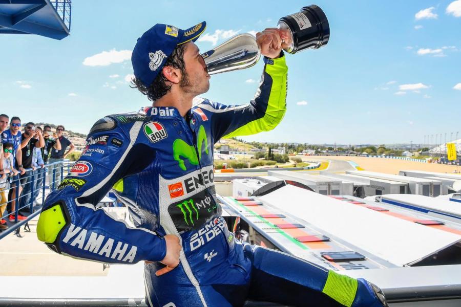 2016 Jerez Spain Valentino Rossi Podium