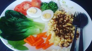 Resepi Diet, Diet seimbang, menu diet, diet atkins, makanan seimbang, telur sumber protien, serunding bilis, makanan untuk kawal berat badan, Resepi, Qiya Saad, Qiya Kitchen,
