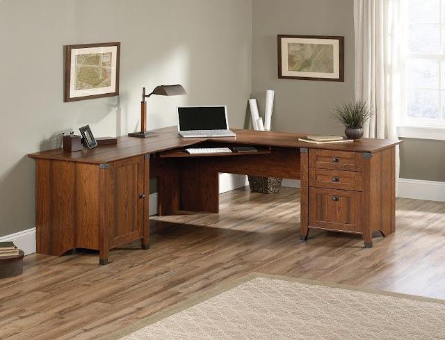 best l shaped wood home office desk Cape Town for sale cheap