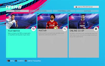 PES 2013 Graphics Menu FIFA 19