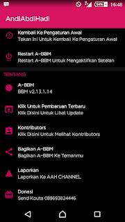 Aplikasi BBM Mod Android Delta v 2.13.1.14 Release Terbaru Changelog v3.4.1