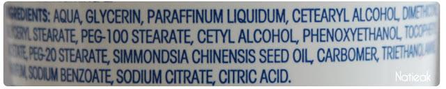 composition Labell crème hydratante