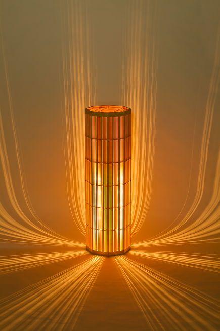 Contoh kerajinan lampu hias dari bambu yang keren