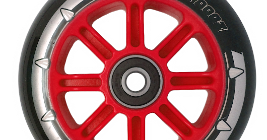 NEW Pro Nylon Wheel - Red Core Black PU