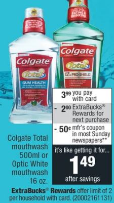 CVS Couponers Colgate Total Mouthwash Deal