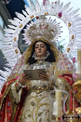 Resultado de imagen de salida procesional de la Virgen de la Encarnación de La Cena