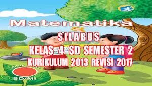 Silabus Matematika Kelas 4 SD Semester 2 Kurikulum 2013 revisi 2017
