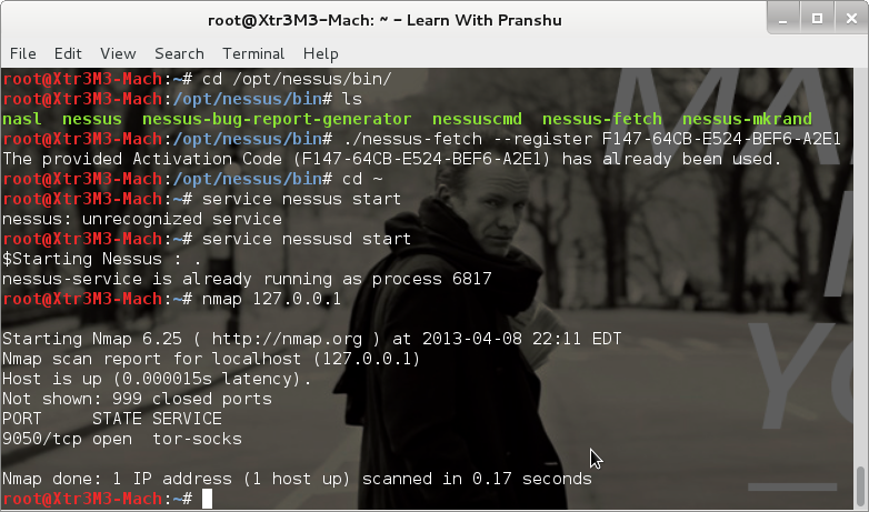 The Life of a Penetration Tester: Installing Nessus in Kali
