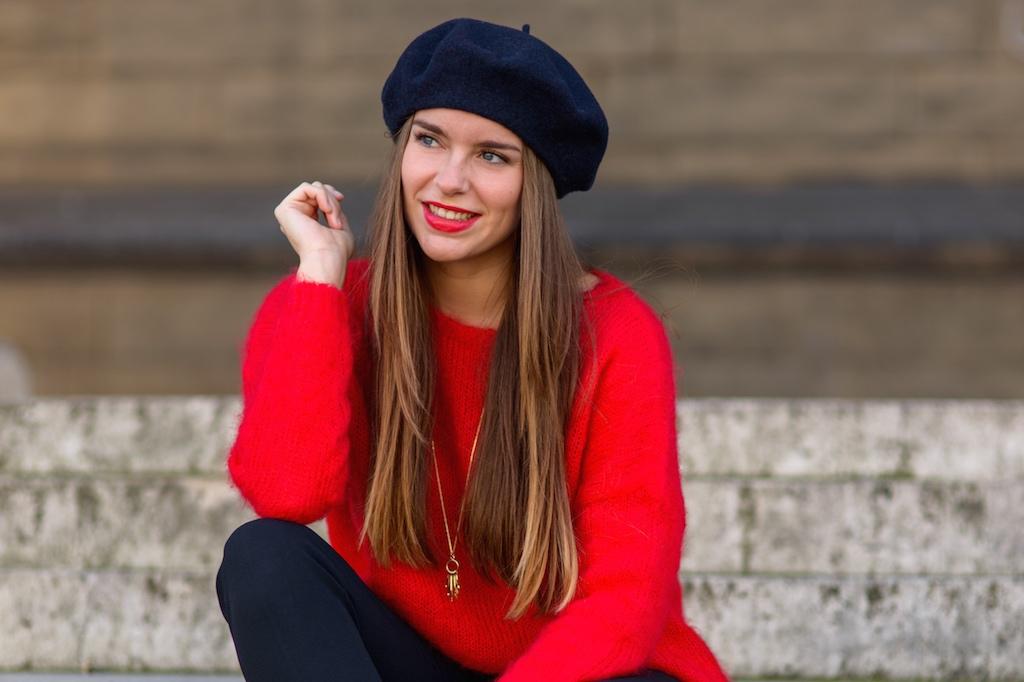 blogueuse mode béret galeries lafayette