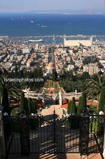Israel Travel Guide - The Shrine of the Ba'b (Haifa) Bahá'í World Centre, Bahai Gardens