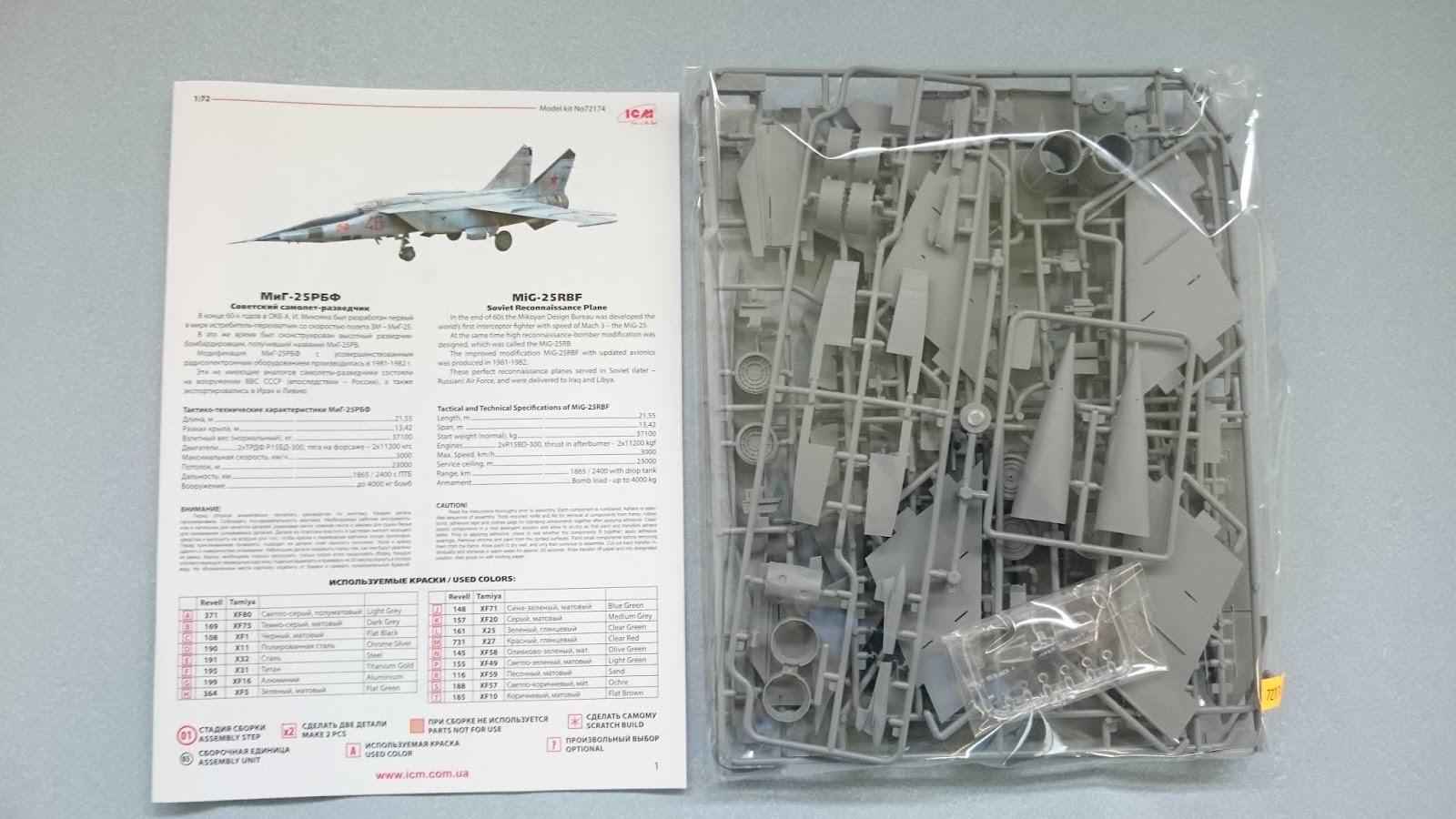 ICM 72174-1:72 MiG-25 RBF,Soviet Reconnaissance Plane Neu