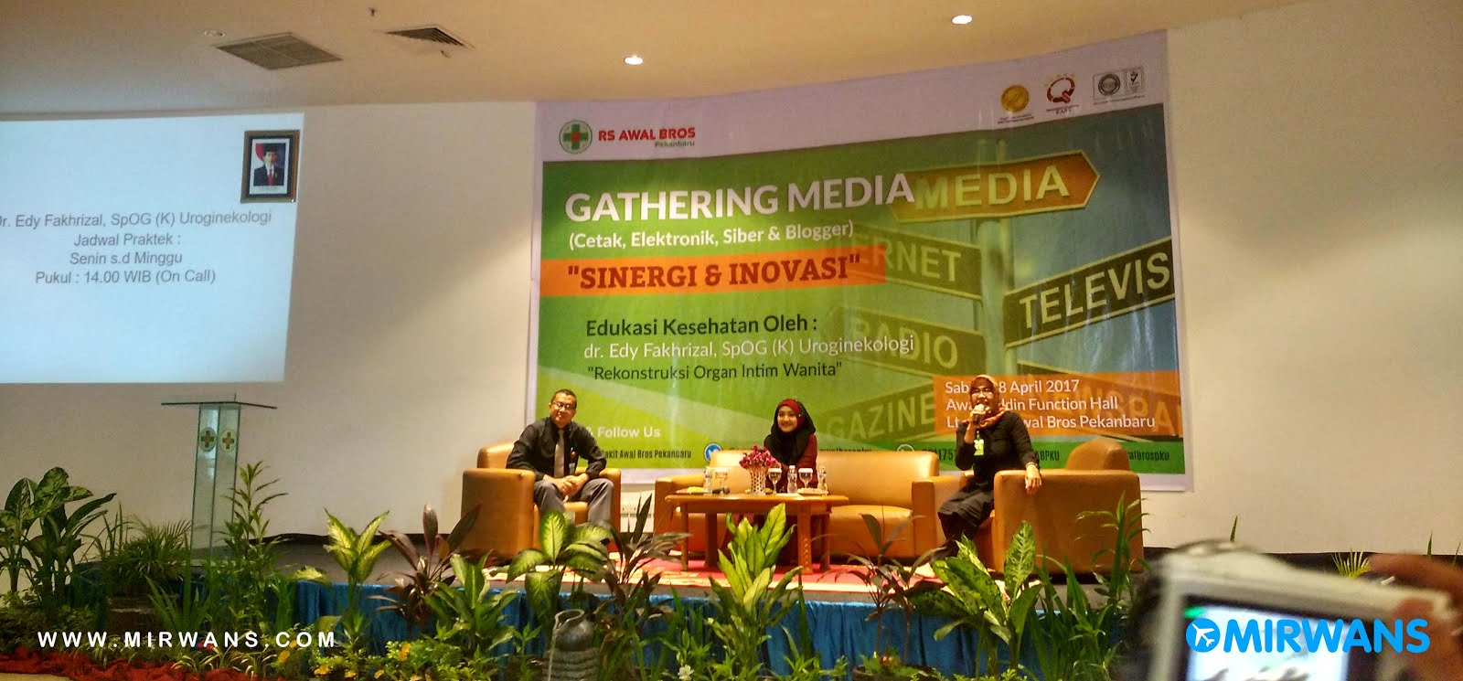Gathering Media Bareng RS Awal Bros Pekanbaru
