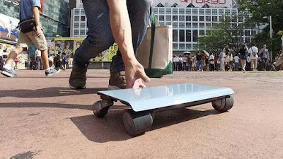 WalkCar, a portable electric vehicle.