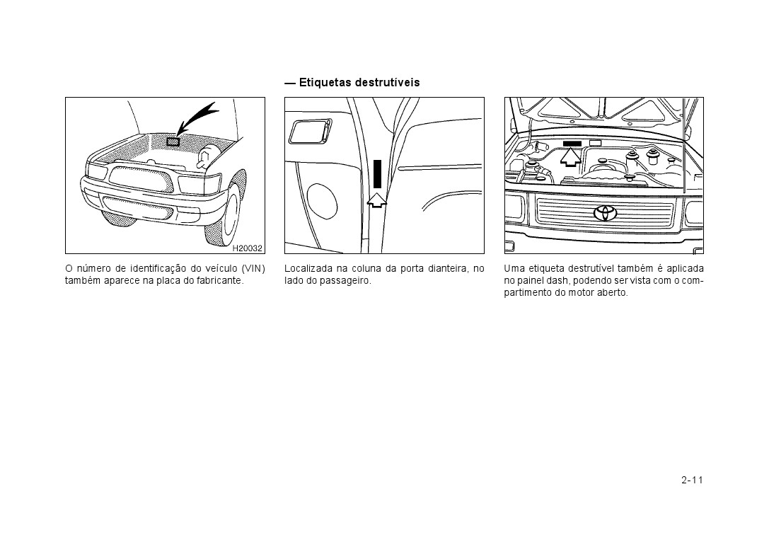 manuais do propriet u00c1rio  manual do toyota hilux 2001  2002