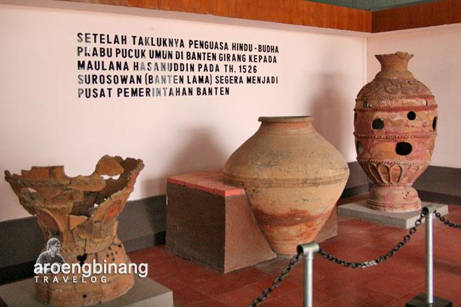 gerabah kuno surosowan museum situs kepurbakalaan banten lama serang