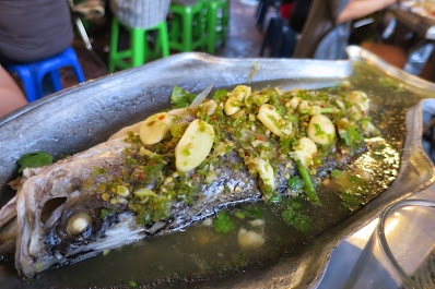 Bangkok, T&K Seafood, steamed fish chilli lime