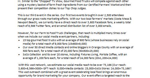 soco farmers 39 market farm to food truck challenge iii sponsorship card. Black Bedroom Furniture Sets. Home Design Ideas