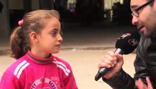 Niña iraquí refugiada